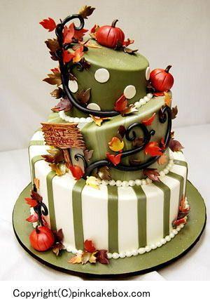 秋デザインウェディングケーキ特集☆アメリカより♪の画像 | 【パーフェクトウェディング宣言!】