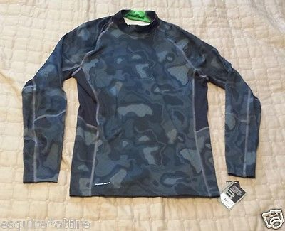 on sale: LAYER 8 men size M base layer long sleeve (12% spandex) camouflage warm #shirt withing our EBAY store at  http://stores.ebay.com/esquirestore