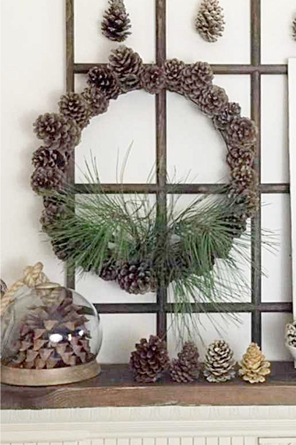 Use Nature Instead Of Glue To Make This Blooming Pine Cone Wreath The Only Supplies Are A Wire Wreath Frame Pine Co Pinecone Wreath Wire Wreath Frame Wreaths