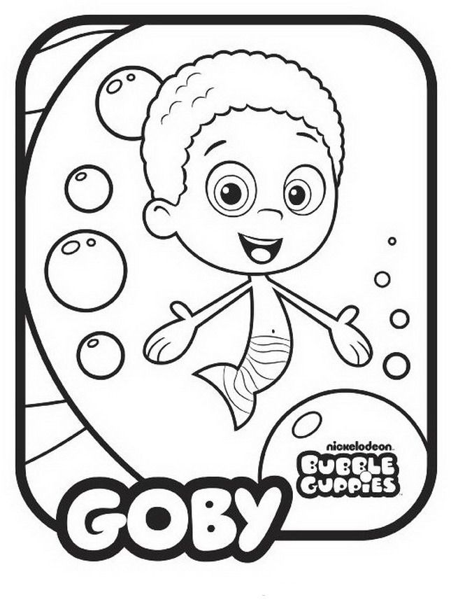 bubble guppies coloring pages - Bubble Guppies Coloring Pages