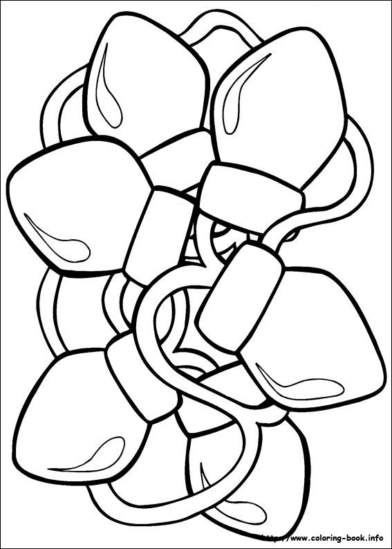 Christmas Lights Coloring Pages For Kids