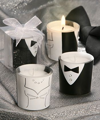 adorable wedding candles.