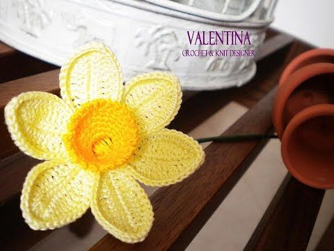 Tutorial Narciso 3d Crochet/Uncinetto - YouTube