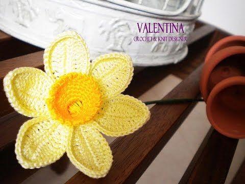 Tutorial Narciso 3d Crochet/Uncinetto - YouTube