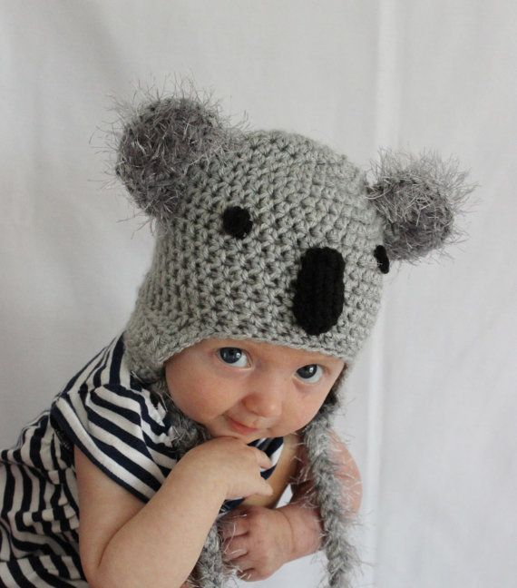 Koala Hat Newborn Koala Hat Kids Koala Hat by DeesCozyCreations