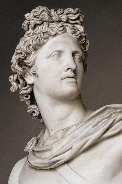 APOLO (Olímpico). Dios de la luz, el sol, el conocimiento, la música, la poesía, la profecía y el tiro con arco. También considerado el dios de la medicina, de las profecías. Los símbolos incluyen el sol, la lira, el arco y la flecha, el cuervo, el delfín, el lobo, el cisne y el ratón. Hermano gemelo de Artemisa. Hijo menor de Zeus y Leto.