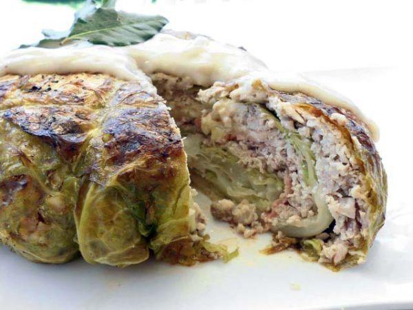 Verza ripiena di pollo in salsa gravy, Ricetta da Bluaragosta - Petitchef