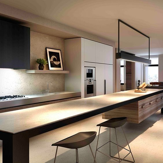 123 Home Renovation Ideas: Contemporary Kitchen Style https://www.futuristarchitecture.com/3130-123-home-renovation-ideas-contemporary-kitchen-style.html #kitchen
