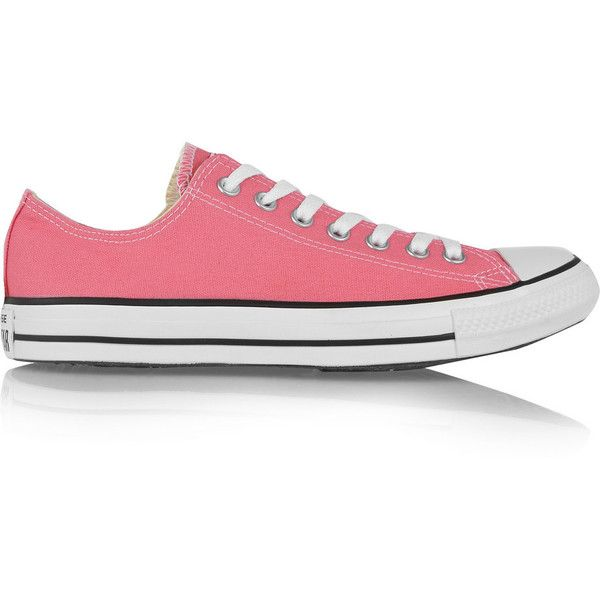 Converse Chuck Taylor canvas sneakers ($44) ❤ liked on Polyvore featuring  shoes, sneakers