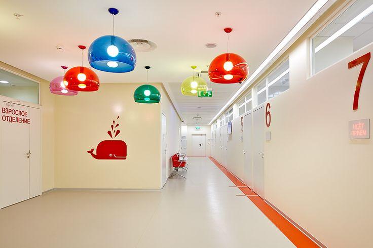 Children's service in Chaika Clinics - interior design