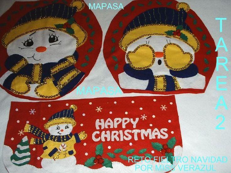 Juegos De Baño Navidenos:Moldes Para Fieltro De Navidad Gratis