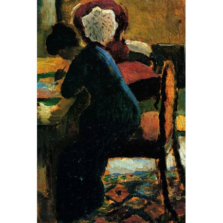 Elisabeth at the Table - reprodukcje na płótnie - Fedkolor