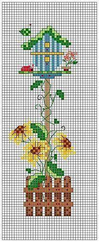 (^_^) Birdhouse - sunflowers  35 (205x498, 140Kb)