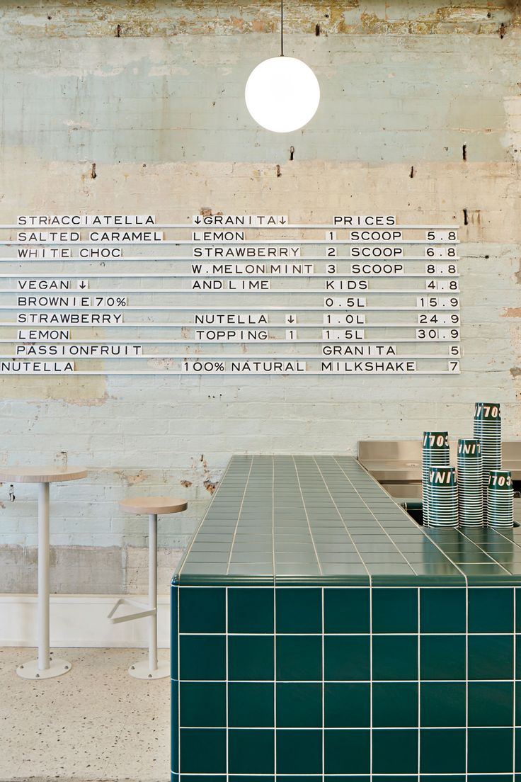 Hecker Guthrie has created a new flagship for Melbourne gelateria, Piccolina, echoing 1950s Southern Italy—from the colourways through to the theatre of gelato, and the idea of home cooking and gathering around the kitchen.