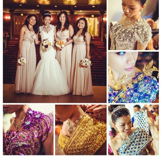4-6 outfit changes for a typical Cambodian traditional wedding.