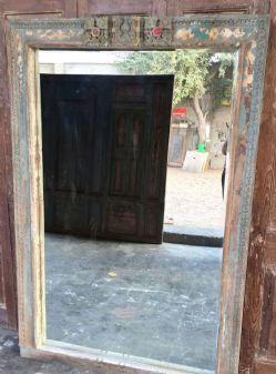 Mid 19th Century Doorway Mirror from a Hindu Temple
