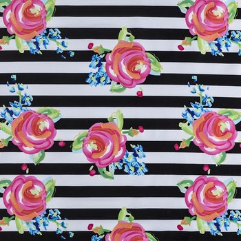 Watercolor Rose Stripe Apparel Fabric-Hobby Lobby                                                                                                                                                                                 More