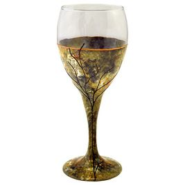 Transitional Wine Glasses by Sand and Water Creations in Glass