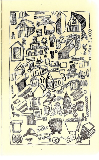 By jollydog: Art Inspiration, Journaling Mixed Media, Paper, Barn Inspiration, Hand Drawn, Art Journaling Mixed, Doodles Drawing
