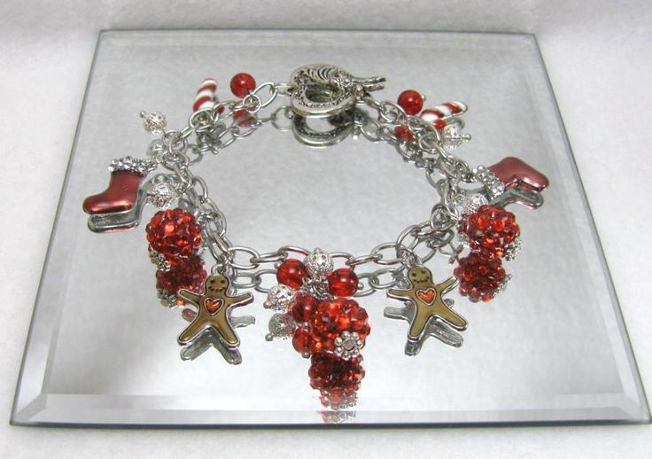 Christmas Playfulness  - Jewelry creation by Linda Foust