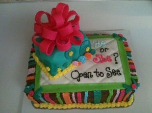 Gender Reveal Cake: Cakes Ideas, Cakey Crazy, Baby Ideas, Shower Cakes, Desserts Cakes, Baby Things, Future Baby, Gender Reveal Cakes, Baby Shower