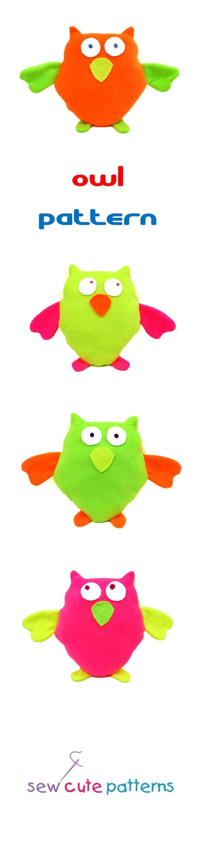 Owl pattern includes instructions and pattern pieces to make an adorable plush owl.  Sewing pattern also includes a fun short story for kids!  Read the story of the glow in the dark owl and then use the instructions and pattern pieces to make your own glow in the dark pet.  Pattern is available for instant PDF download.