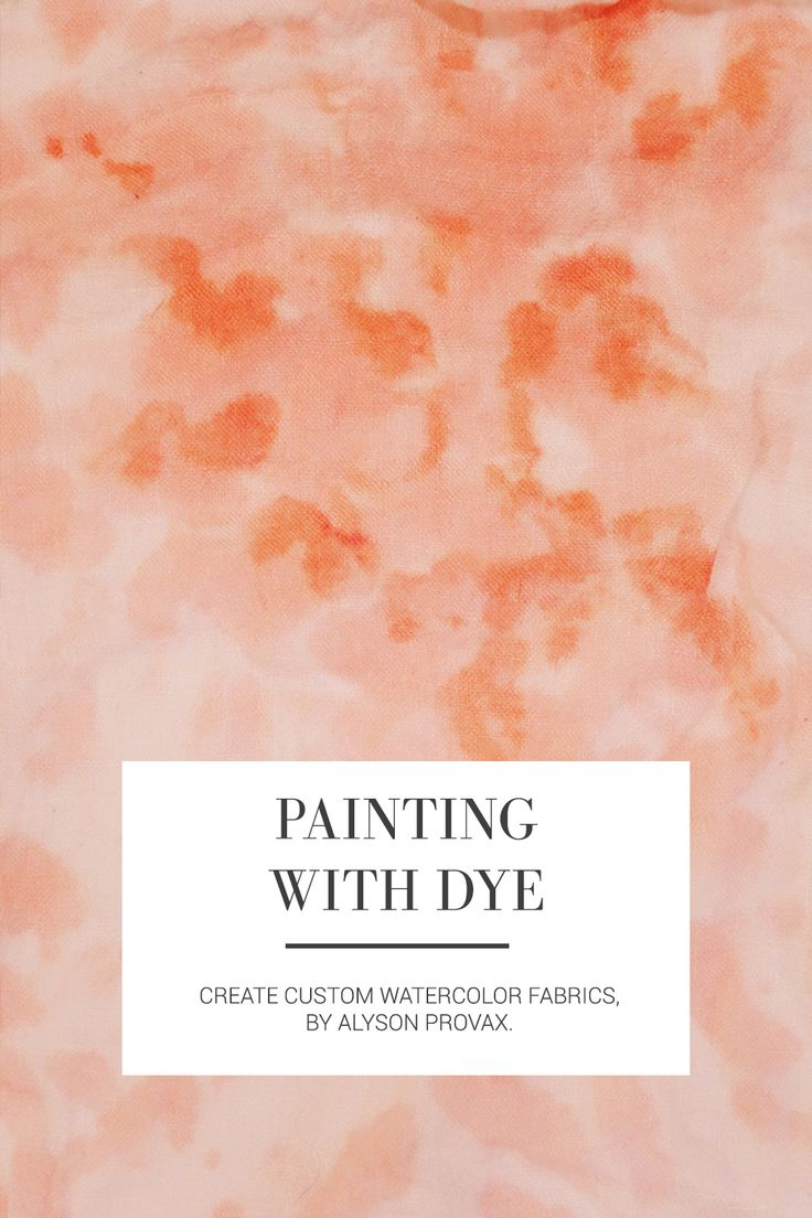 Seamwork Magazine: Painting with Dye