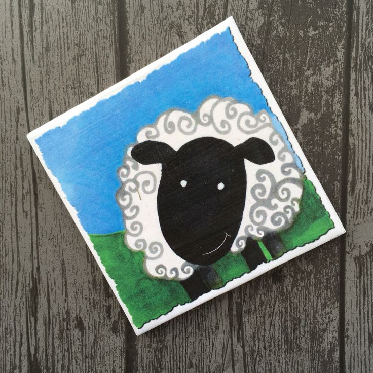 A personal favourite from my Etsy shop https://www.etsy.com/uk/listing/473437645/cute-sheep-coaster-colourful