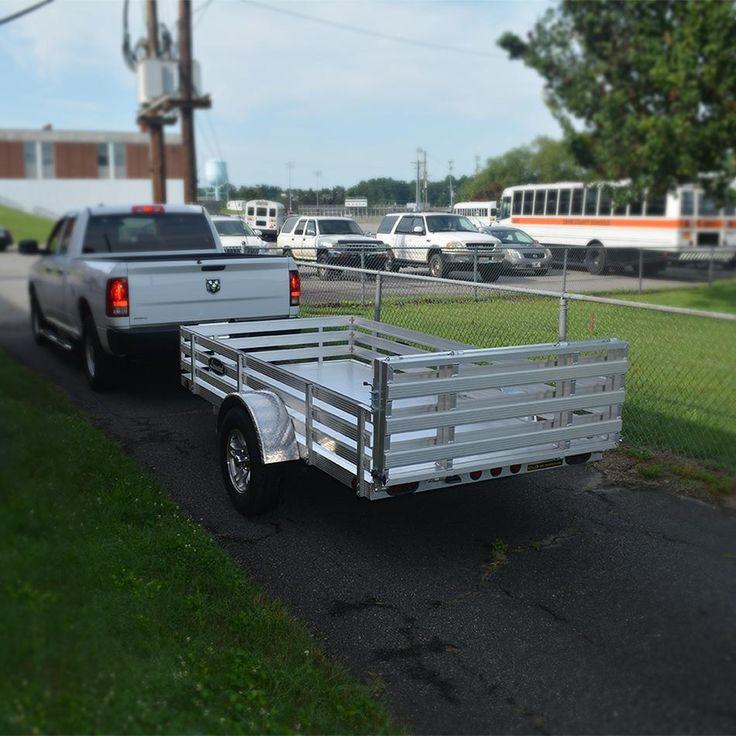 Leonard aluminum utility trailer gmax series 5x10 single for 5x10 wood floor trailer