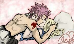 Fairy tail fan art, Natsu and luck...Nalu♡
