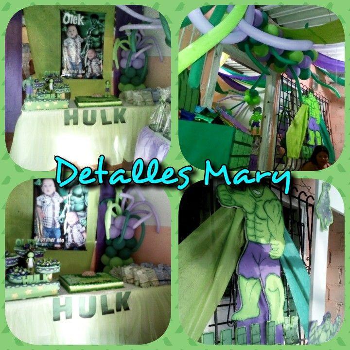 Decoracion de hulk