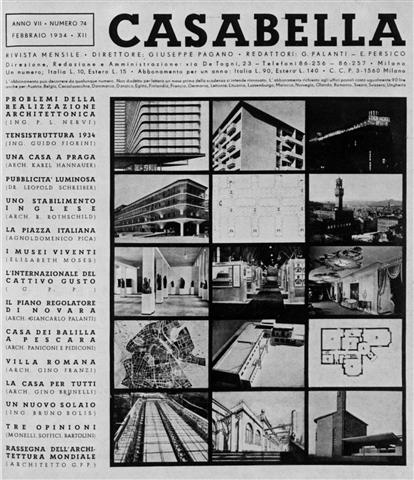 new front cover for Casabella by Edoardo Persico, 1934