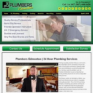 Plumbers Edmonton provides emergency plumbing, heating, and cooling services to Edmonton and area homeowners. Call (587) 408-3450 24 hours a day, 7 days a week. Satisfaction Guarantee!