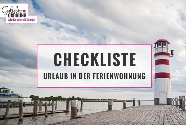 Checkliste: Urlaub mit Kindern in einer Ferienwohnung