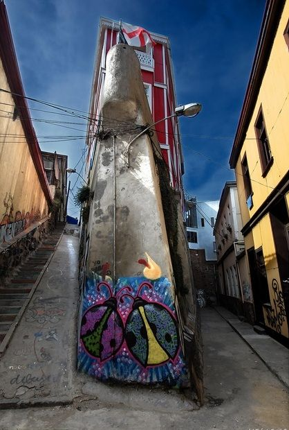 Chile Streets of Valparaiso   Chile