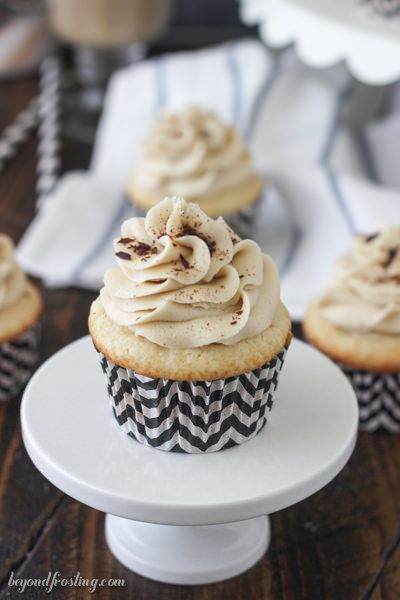 National Cupcake Day; Hot Chocolate Peppermint Mousse Cupcakes - Beyond Frosting