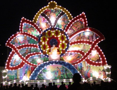 A VESAK ARCH IN SRI LANKA  TRADITIONAL FESTIVALS IN MY COUNTRY  Decor crafts Candles Decor