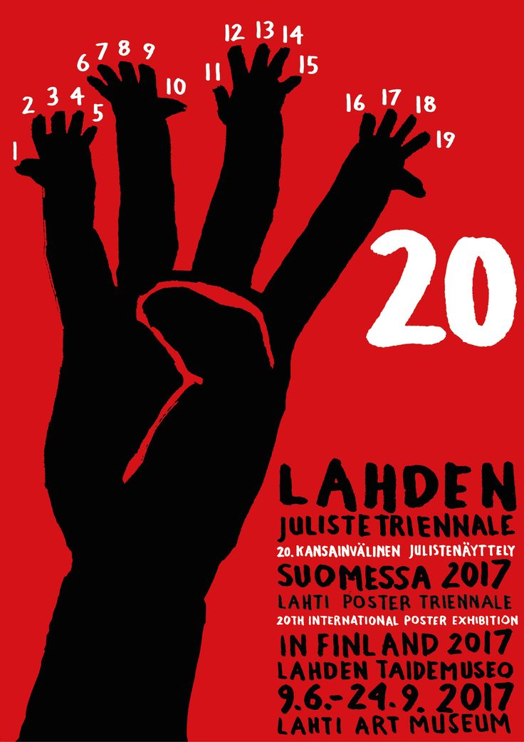 20th anniversary poster triennale 2017, candidate for the event