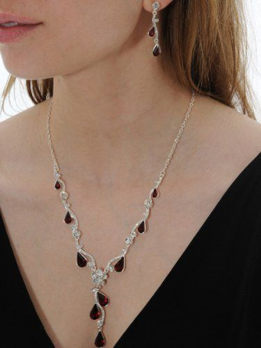 Beautiful #Crystal #Rhinestone #Necklace and Matching Earrings Red and Clear http://www.mysharedpage.com/beautiful-crystal-rhinestone-necklace-and-matching-earrings-red-and-clear  $23.96