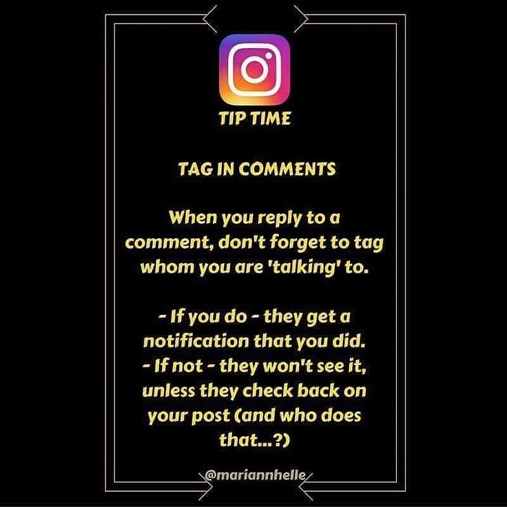 Tip time: Do you reply to comments on your posts   Tag the account you're replying to and they will be notified. This is done by putting a @ in front of the username.  Another great thing about replying to every comment is that you double the comments   Did you get value from this post   Want to learn more about building your business online? JOIN the Networking Success Tips FB-community! I would love to give you a welcoming post in there!  @mariannhelle  - LINK IN BIO…