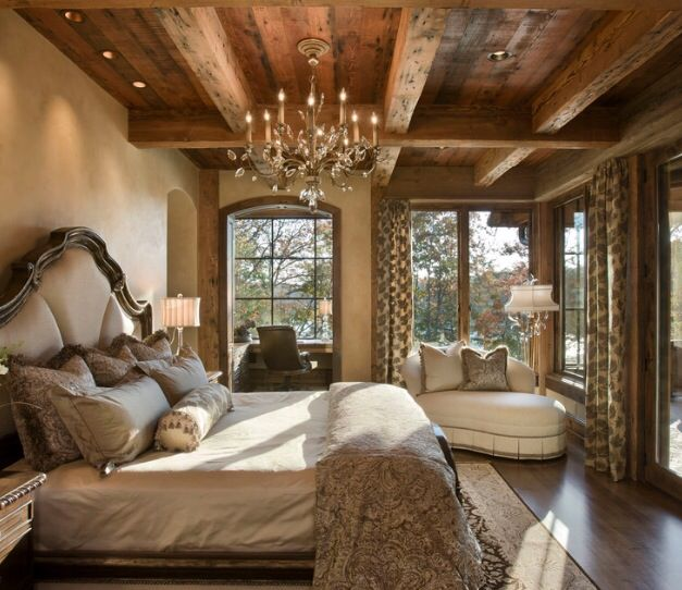 Favorite mix of rustic elegant critchfield master for Rustic elegant bedroom