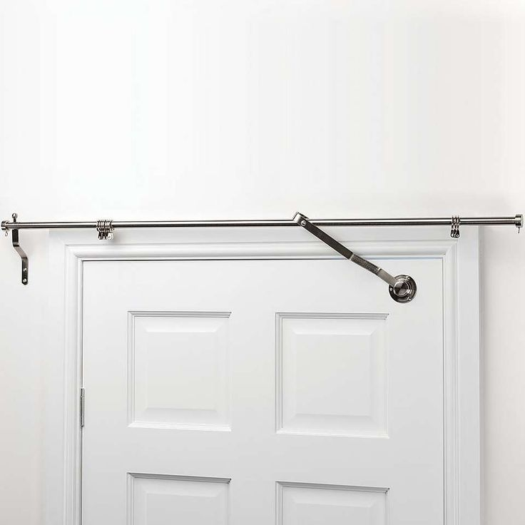 Door Curtain Pole Features a lift up mechanism to raise your curtains as your door opens.