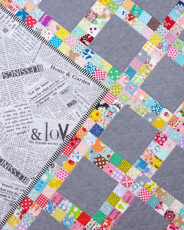 Postage Stamp Scrap Buster Quilt | ©️️ Red Pepper Quilts 2018