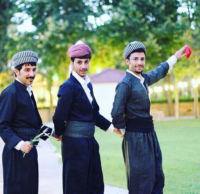 Kurdish boys Kurdish dancing in Kurdish clothes