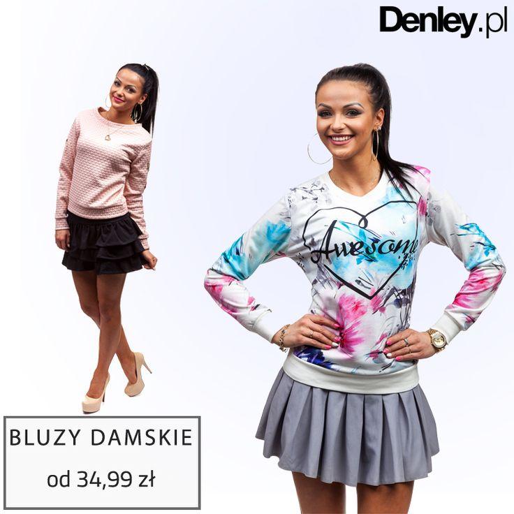 Denley.pl to nie tylko moda męska ale w swojej ofercie mamy również modę damską. W kolekcji znajdziecie m.in. ponad 120 modeli bluz. Sprawdź -->> http://bit.ly/bluzydamskie_Denleypl