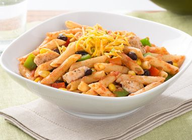 Let's have fun in the kitchen with this Salsa Chicken Penne dish. It's made with Catelli Smart® pasta so you're assured it's both yummy AND great to make with the kids. #recipe #pasta