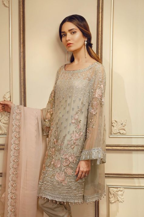 f4b45c11d7 Original outfit by Baroque Chentelle Chiffon Collection Three piece  embroidered chiffon suit stitched with lining as well Can be ordered in all  sizes with ...