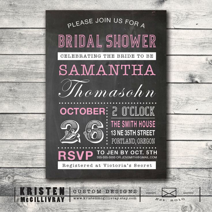graduation party invitation templates for word%0A Bridal Shower Chalkboard Invitation Vintage Playbill Bachelorette Hen  Digital File Setup for DIY Printing  Bridal Shower ChalkboardGraduation  Party