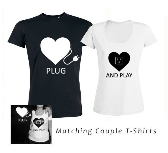 matching couple shirts funny couple shirts plug and play couple tshirts gift for couples engagement t shirt valentine couples tees