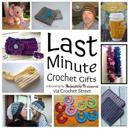 10 Last Minute Gifts Free #Crochet Patterns for craft fair tables, Christmas gifts, or stash busting projects.